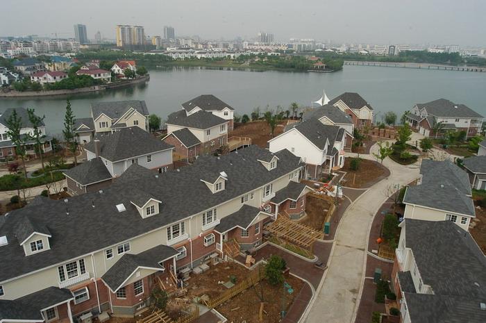 南京佳湖绿岛美式洋楼别墅区变得更美了     所有图片德胜(苏州)